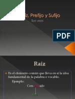 Prefijo y Sufijo
