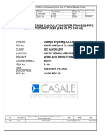 Process Pipe Support Structure Design Caln