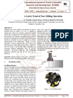 An Overview on Latest Trend of Face Milling Operation