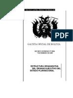 Bol DS 29894 09 Ley Organizacion Organo Ejecutivo
