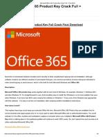 Microsoft Office 365 Product Key Crack Full + Final 2018