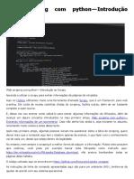 Web Scraping Com Python—Introdução Ao Scrapy