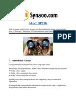 Rangkuman Materi Alat Optik By Synaoo.com