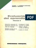 Evaluación del aprendizage
