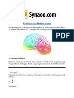 Rangkuman Materi Elastisitas Dan Hukum Hooke PDF By Synaoo.com