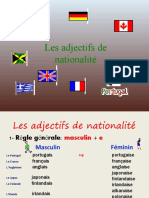 Adjectifs National It Power Point