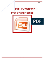 Ms Power Point Step by Step Guide