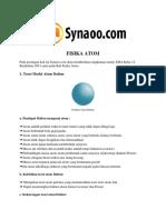 Rangkuman Materi Fisika Atom PDF by Synaoo.com