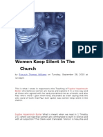 38332360 Women Keep Silent in the Church[1]