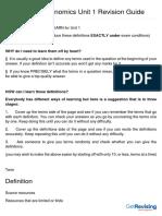 Edexcel as Economics Unit 1 Revision Guide