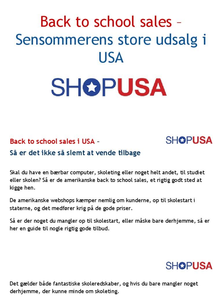 Back To School Sales Dk