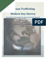 Human Trafficking Speech