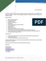Carta Presentación Water Projects SA
