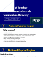 Analysis of Critical Inputs and Curriculum Delivery-new