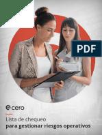 Guia de Lista de Chequeo Para Gestionar Riesgos Operativos