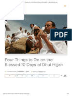 Four Things to Do on the Blessed 10 Days of Dhul Hijjah - ProductiveMuslim.com