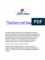 Titanium rod Suppliers