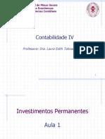 Aula 1 Investimento Permanente - Contabilidade IV