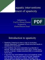 Impact of Aquatic Interventions