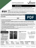 Instrucciones para usar la cinta para medir tubería ranurada