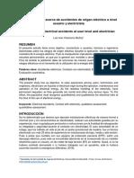 Concientización acerca de accidentes de origen eléctrico a nivel usuario y electricista