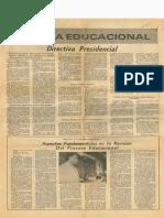 Directiva presidencial y Carta al ministro