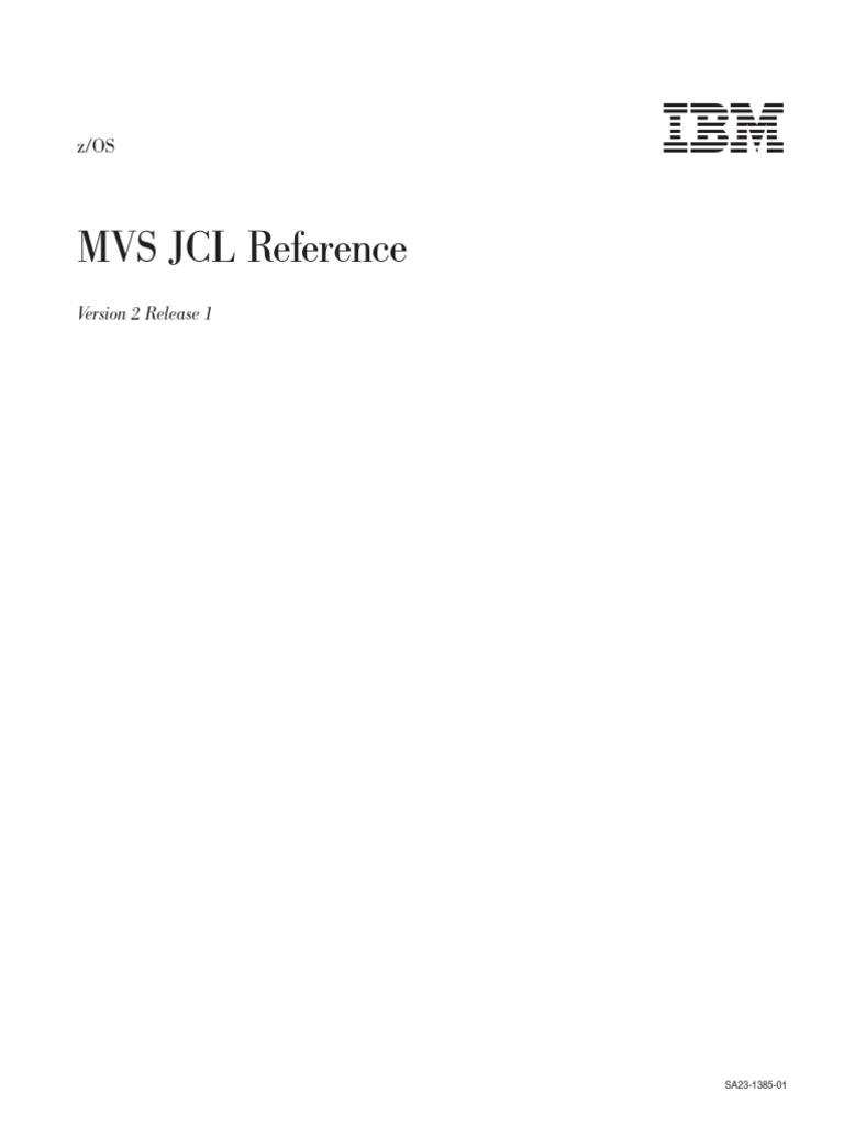 MVS JCL Reference | Operating System Technology | Computer