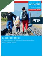 Unicer 2016. Niños migrantes. Sueños rotos