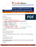 Grammar for Spotting Error and Sentence Improvement