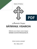 Batranul Visarion - Despre Mama Duhovniceasca