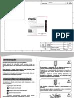 Manual Condicionador de Ar Philco 12000 BTU's