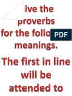 Proverbs Activity