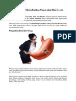 Cara Efektif Menyembuhkan Maag Akut Dan Kronis