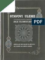 Stavovi Uleme o Gazalijevoj Knjizi Ihja-Ulumud-Din