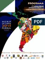 Programa congreso comunalidad