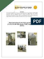 Avance II 400 Mhz Bruker Manual