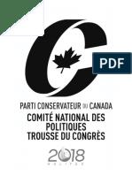 Congrès du Parti conservateur 2018 - résolutions de politiques