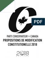 Congrès du Parti conservateur 2018 - propositions de modification constitutionelle