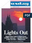 Newsday's front cover for the 2003 blackout