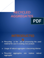 Recycled cyclopean aggregates
