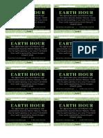 Earth Hour Tq Card
