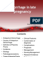 hemorrhageinlatepregnancy