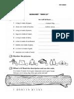 Worksheet Made Of