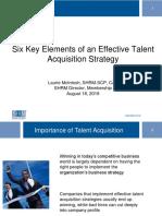 2. 1c. Regency e Mcintosh Six Key Elements of an Effective Talent Acquisition Strategy August 18 2016