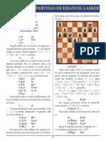 1- E. Lasker vs J. H. Bauer