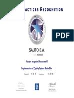 Certificacion QSB 2015 SAUTO