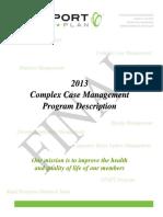 Complex Case Management Plan