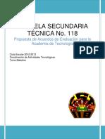 Acuerdos de Evaluación Academia de Tecnología