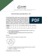 AD1 MB Bio 2015 1 Gabarito