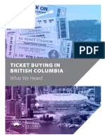 What We Heard Report - Ticket Buying and Selling - Ministry of Public Safety and Solicitor General